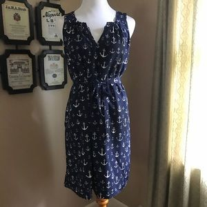 Tommy Hilfiger Nautical Anchor Dress Size Small